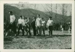 Black Mountain College football game, ca. 1946-1948 / Photographer: Ilya Bolotowsky (who taught Art from 1946 - summer 1948). Courtesy The North Carolina State Archives