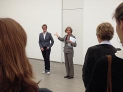 Annette Jael Lehmann and Gabriele Knapstein at Hamburger Bahnhof – Museum für Gegenwart – Berlin introducing the cooperative workshop (02.05.2014)
