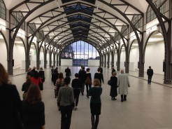 "Curator Gabriele Knapstein guides the participants and guests through ""ON INTERMEDIAL WORK: ""PART FILE SCORE"" by Susan Philipsz at Hamburger Bahnhof – Museum für Gegenwart – Berlin (02.05.2014)"