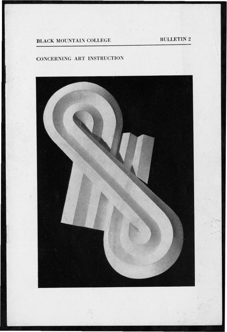 #1 No. 2, 11.1944 Josef Albers Black Mountain College Bulletin. Courtesy of Western Regional Archives