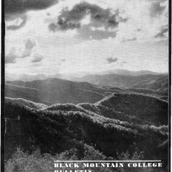 #1 Vol. II, No. 6 - 04.1944 Black Mountain College Bulletin. Courtesy of Western Regional Archives.