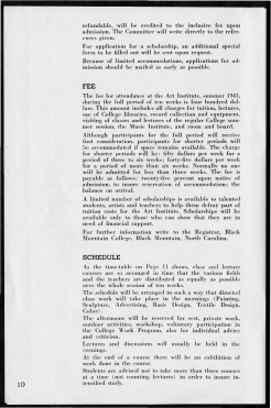 #10 May 1945 Vol. III, No. 6 Black Mountain College Bulletin. Courtesy of Western Regional Archives