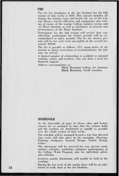 #10 Vol. II, No. 6 - 04.1944 Black Mountain College Bulletin. Courtesy of Western Regional Archives.