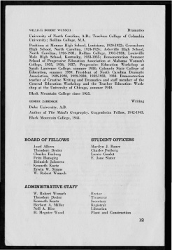 #12 Vol. II, No. 8. - 08.1944 Black Mountain College Bulletin. Courtesy of Western Regional Archives.
