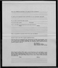 #13 May 1945 Vol. III, No. 6 Black Mountain College Bulletin. Courtesy of Western Regional Archives