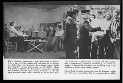 #14 Vol. I, No. 3. - 02.1943 Black Mountain College Bulletin / photographic bulletin that explains the educational goals and structure of Black Mountain College, illustrated with pictures of students and faculty. Released by Emily R. Wood. Courtesy The North Carolina State Archives