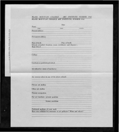#16 Vol. II, No. 6 - 04.1944 Black Mountain College Bulletin. Courtesy of Western Regional Archives.