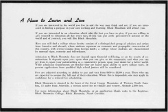 #18 Vol. I, No. 3. - 02.1943 Black Mountain College Bulletin / photographic bulletin that explains the educational goals and structure of Black Mountain College, illustrated with pictures of students and faculty. Released by Emily R. Wood. Courtesy The North Carolina State Archives
