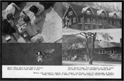 #19 Vol. I, No. 3. - 02.1943 Black Mountain College Bulletin / photographic bulletin that explains the educational goals and structure of Black Mountain College, illustrated with pictures of students and faculty. Released by Emily R. Wood. Courtesy The North Carolina State Archives