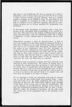 "#2 No. 5, 1938 - ""Work with Material"" Black Mountain College Bulletin. Courtesy of Western Regional Archives"