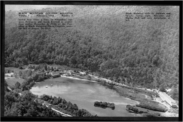 #2 Vol. I, No. 3. - 02.1943 Black Mountain College Bulletin / photographic bulletin that explains the educational goals and structure of Black Mountain College, illustrated with pictures of students and faculty. Released by Emily R. Wood. Courtesy The North Carolina State Archives