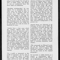#4 Vol. I, No. 2. - 01.1943 Black Mountain College Bulletin that argues the value of a broad liberal arts education, such as the one provided by Black Mountain College, to solders and others during World War II. Other subjects include: a discussion at the college led by visiting author Alfred Kazin; a discussion led by W. A. Robinson, director of the Secondary School Study of the Association of Colleges and Secondary Schools for Negroes, on education for African Americans; faculty appointments; the future of world culture as outlined by Herbert Miller; children in the college community; the role of the college in the surrounding community; radio programs via WWNC; the building of the Quiet House; upcoming plays, concerts, and other events at the college; general campus news and news from alumni of the college. Released by Emily R. Wood. Courtesy the North Carolina State Archive