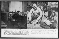 #4 Vol. I, No. 3. - 02.1943 Black Mountain College Bulletin / photographic bulletin that explains the educational goals and structure of Black Mountain College, illustrated with pictures of students and faculty. Released by Emily R. Wood. Courtesy The North Carolina State Archives