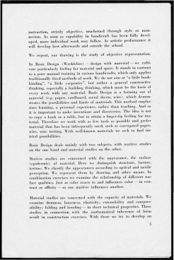 #5 No. 2, 11.1944 Josef Albers Black Mountain College Bulletin. Courtesy of Western Regional Archives