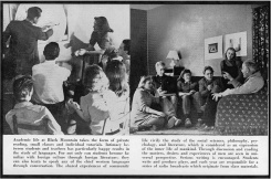 #6 Vol. I, No. 3. - 02.1943 Black Mountain College Bulletin / photographic bulletin that explains the educational goals and structure of Black Mountain College, illustrated with pictures of students and faculty. Released by Emily R. Wood. Courtesy The North Carolina State Archives