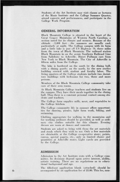 #9 May 1945 Vol. III, No. 6 Black Mountain College Bulletin. Courtesy of Western Regional Archives