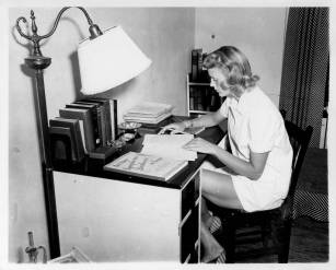 Barbara Sieck, Black Mountain College student, in her student study ca. 1939-1942. Courtesy the North Carolina State Archive