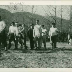 Black Mountain College football game (ca. 1946-1948). Courtesy of Western Regional Archives.