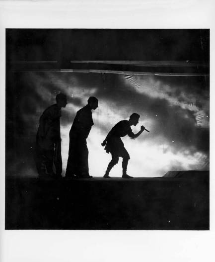 Performance of Macbeth by William Shakespeare, May 1940. Photograph by Robert Haas (1898-1997). Courtesy of Western Regional Archives. Black Mountain College