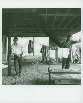 Dan Rice and Robert Creeley at Black Mountain College (ca. 1955). Courtesy of Western Regional Archives.