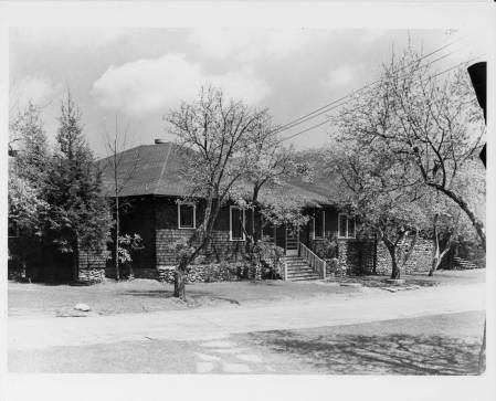 Dining Hall (front view), Lake Eden Campus, Black Mountain College. Courtesy of Western Regional Archives.
