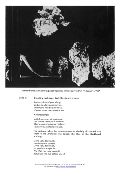 """#12 Xanti Schawinsky: """"Play, Life, Illusion """", in The Drama Review: TDR, Vol. 15, No. 3 (Summer, 1971), pp. 45-59, Published by: The MIT Press"""
