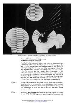"""#13 Xanti Schawinsky: """"Play, Life, Illusion """", in The Drama Review: TDR, Vol. 15, No. 3 (Summer, 1971), pp. 45-59, Published by: The MIT Press"""