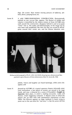 "#14 Xanti Schawinsky: ""Play, Life, Illusion "", in The Drama Review: TDR, Vol. 15, No. 3 (Summer, 1971), pp. 45-59, Published by: The MIT Press"