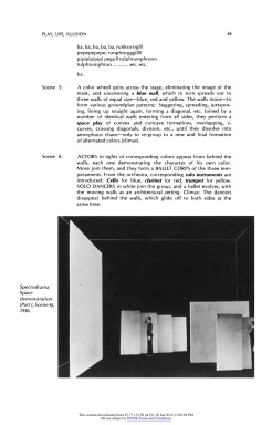 """#5 Xanti Schawinsky: """"Play, Life, Illusion """", in The Drama Review: TDR, Vol. 15, No. 3 (Summer, 1971), pp. 45-59, Published by: The MIT Press"""