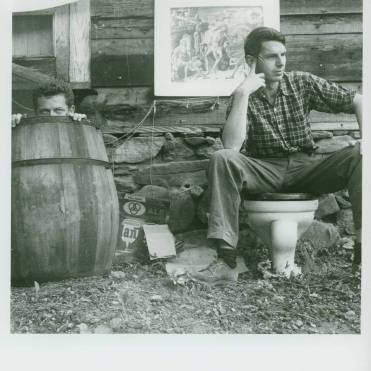 Robert Creeley and Dan Rice at Black Mountain College. Photo by Jonathan Williams, Courtesy Western Regional Archives