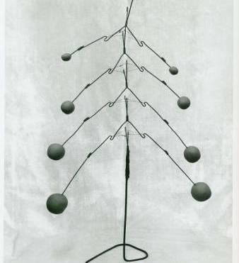 Sculpture by Kenneth Snelson - iron, wire, tread and plasticine, 45 cm high; Release No.: BMC Doc. #4b-Snelson, Photographer Kenneth Snelson, Winter 1948. Courtesy of Regional Western Archives.
