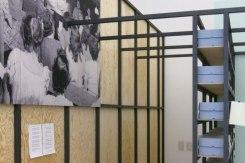 """Installation Views of the exhibition """"Black Mountain. Ein interdisziplinäres Experiment 1933-1957"""" at Hamburger Bahnhof - Museum für Gegenwart - Berlin © Markus Bader - raumlaborberlin"""