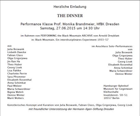 Invitation Card HfBK Dresden