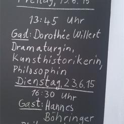 GUESTS in the Black Mountain ARCHIVE: Dorothée Willert, Böhringer, Klasse Brandmeier HfBK Dresden Foto: Georg Lisek