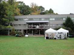 Lake Eden Studies Building of Black Mountain College, near Asheville, North Carolina. Photo: Matilda Felix, 2014.