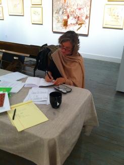 Gabriele Knapstein working at the Black Mountain College Museum + Arts Center, Asheville, North Carolina. Photo: Matilda Felix, 2014.