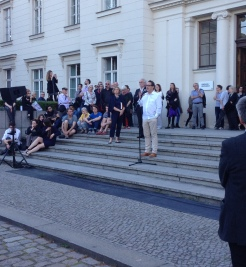 "Udo Kittelmann speaking at the opening Night: ""Black Mountain. Ein interdisziplinäres Experiment 1933-1957"" at Hamburger Bahnhof Museum für Gegenwart, Berlin (04.06.2015)"