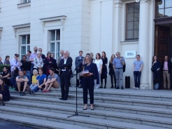 "Gabriele Knapstein speaking at the opening Night: ""Black Mountain. Ein interdisziplinäres Experiment 1933-1957"" at Hamburger Bahnhof Museum für Gegenwart, Berlin (04.06.2015)"