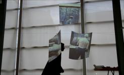 "Yasmin Birkandan: Skizze für Filmstill, PERFORMING the Black Mounain ARCHIVE in der Ausstellung ""Black Mountain. Ein interdisziplinäres Experiment 1933-57"", Hamburger Bahnhof - Museum für Gegenwart - Berlin. Courtesy: Yasmin Birkandan."