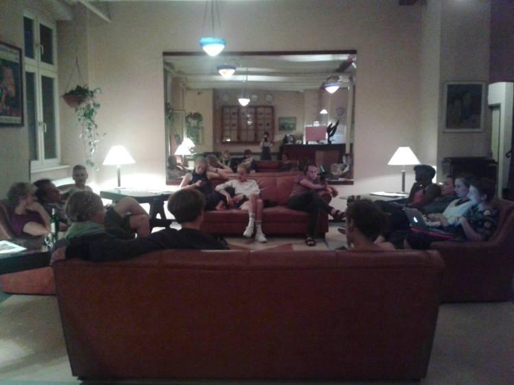Pic 2 by Viola Tømte. The whole gang in Die Fabrik Hostel.