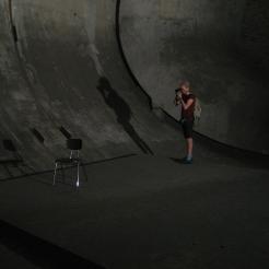 Photo by Mari Lassen-Bergsten Kamsvaag. Tobias Shaw Petersen in Technology Park Adlershof.