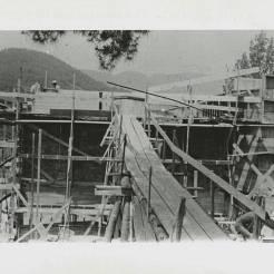Black Mountain College: Bau eines Collegegebäudes, Lawrence Kocher (Architekt), Lake Eden Campus, 1940-41. © Courtesy of Western Regional Archives, States Archives of North Carolina