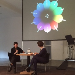 """Christina Kral and Yvonne Reiners about Buckminster Fuller's """"World Game"""" (26 /09 / 2015)"""