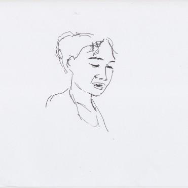 Intro Mariama Diagne drawn by Nikolaus Baumgarten.