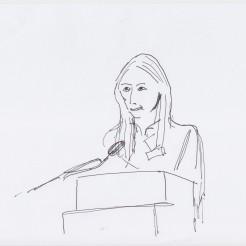 Intro Anna-Lena Werner drawn by Nikolaus Baumgarten.