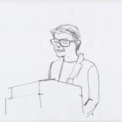 Annette Jael Lehmann drawn by Nikolaus Baumgarten.