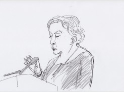 Irit Rogoff drawn by Nikolaus Baumgarten.