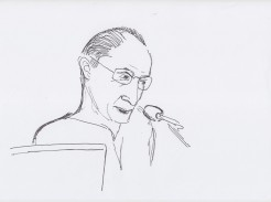 Chris Salter drawn by Nikolaus Baumgarten.
