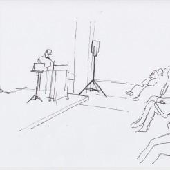 Chris Salter drawn by Nikolaus Baumgarten.