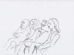 The audience drawn by Nikolaus Baumgarten.